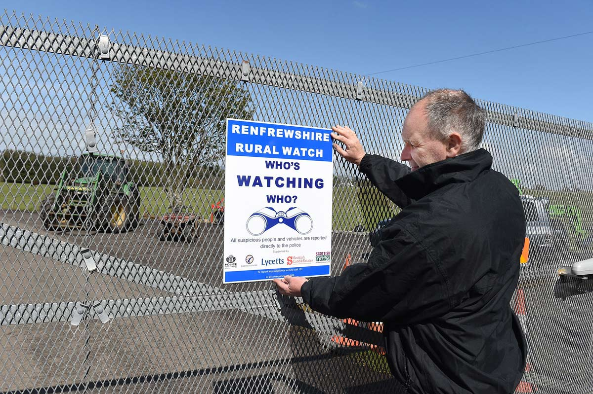 Renfrewshire Rural Watch - Who's watching who? poster. photo © Ian Watson
